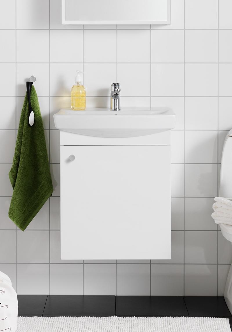 Picture of: Life 500 M Handvaskskab Hvid Med Dor Hafa Baderum